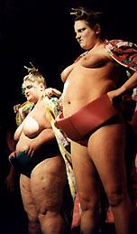 Голая сумоистка